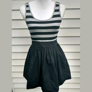 Forever 21 Party Dress, Stripe Top with Black Bott